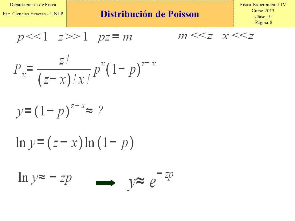 Física Experimental IV Curso 2013 Clase 10 Página-19 Departamento de Física Fac.