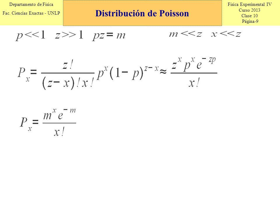 Física Experimental IV Curso 2013 Clase 10 Página-20 Departamento de Física Fac.