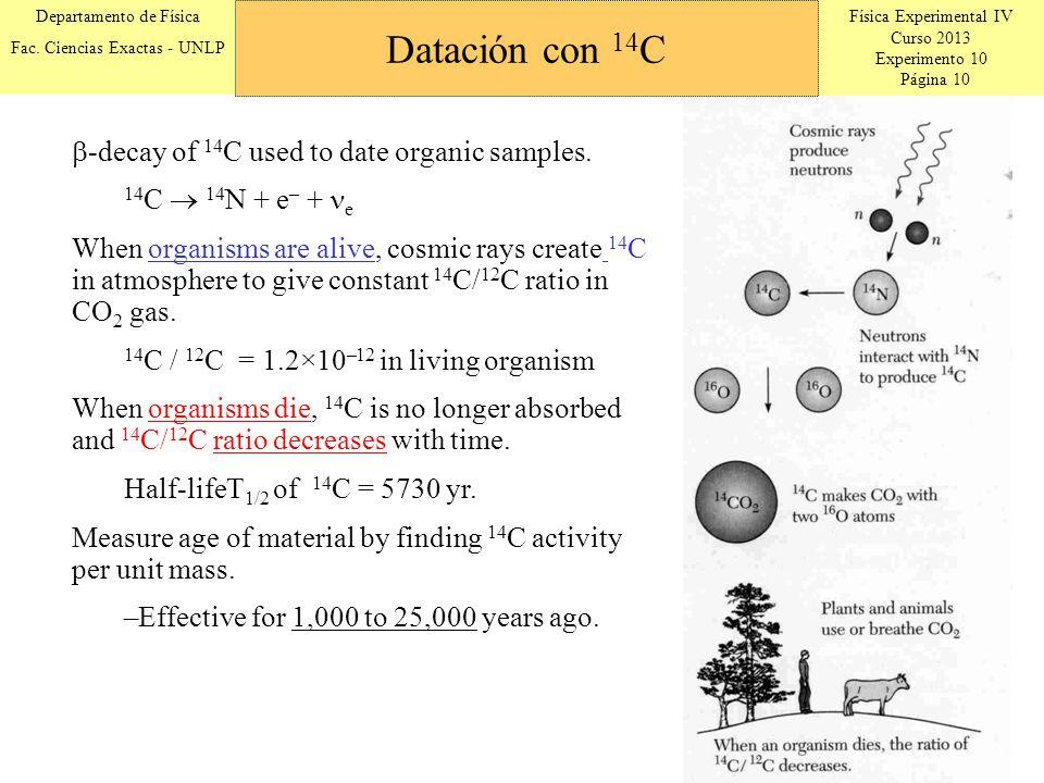 Física Experimental IV Curso 2013 Experimento 10 Página 10 Departamento de Física Fac.