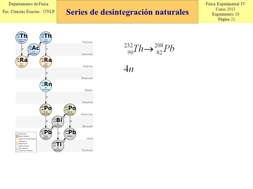 Física Experimental IV Curso 2013 Experimento 10 Página 21 Departamento de Física Fac.