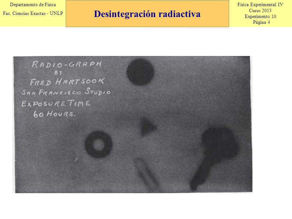 Física Experimental IV Curso 2013 Experimento 10 Página 15 Departamento de Física Fac.