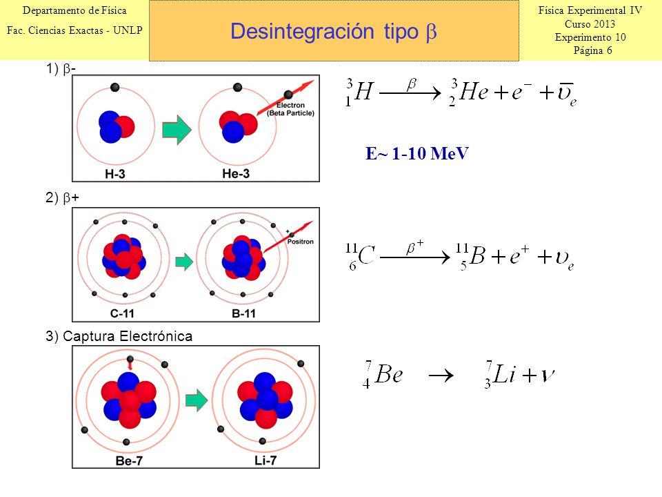 Física Experimental IV Curso 2013 Experimento 10 Página 6 Departamento de Física Fac.
