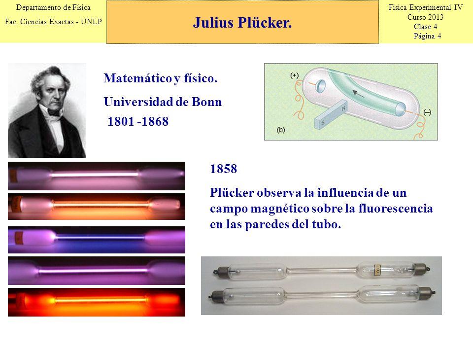 Fisica Experimental IV Curso 2013 Clase 4 Página 15 Departamento de Física Fac.