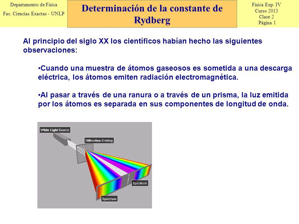 Física Exp. IV Curso 2013 Clase 2 Página 1 Departamento de Física Fac. Ciencias Exactas - UNLP Al principio del siglo XX los científicos habían hecho