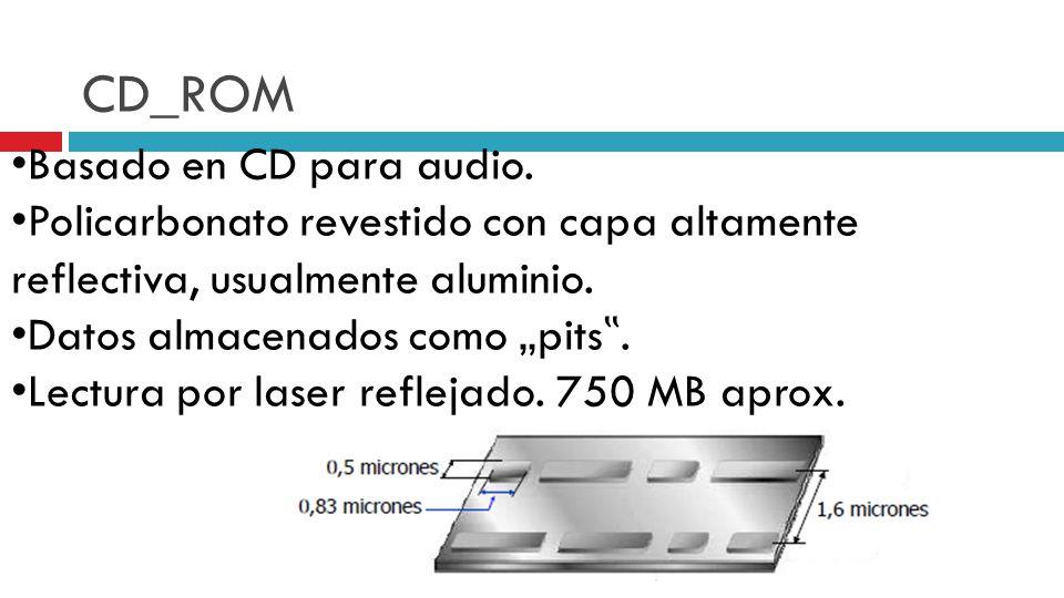 CD_ROM Basado en CD para audio.