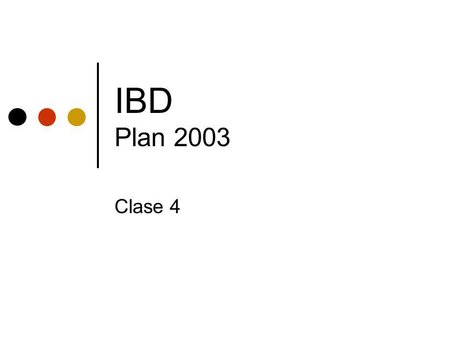 IBD Plan 2003 Clase 4