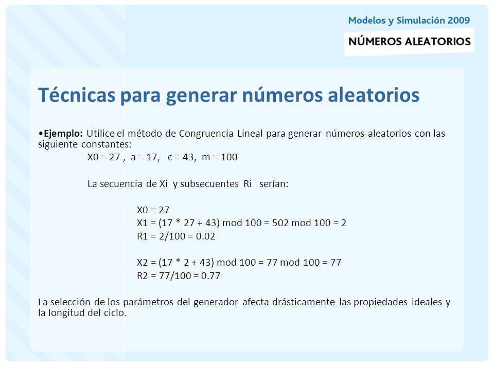 Funciones de números pseudoaleatorios en el GPSS La secuencia de números aleatorios en el GPSS se obtiene a través de un generador congruencial multiplicativo que tiene un período máximo de 32 bits, este período excluye el 0.