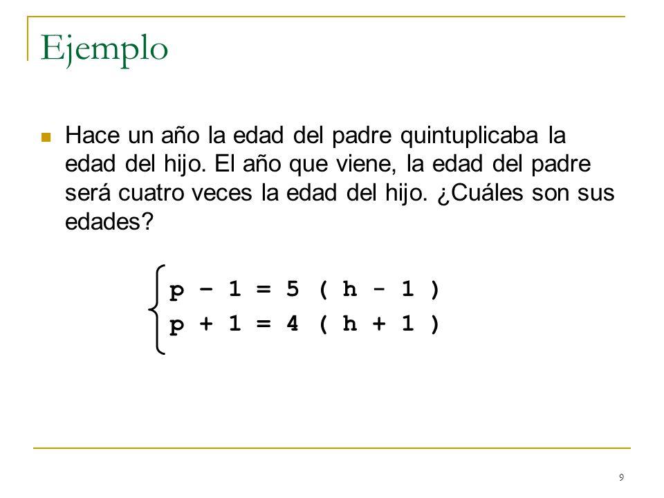 10 Métodos de Resolución Método de Sustitución Consiste en despejar una de las incógnitas de una de las ecuaciones y sustituir, en la otra ecuación, esa incógnita por la expresión obtenida.