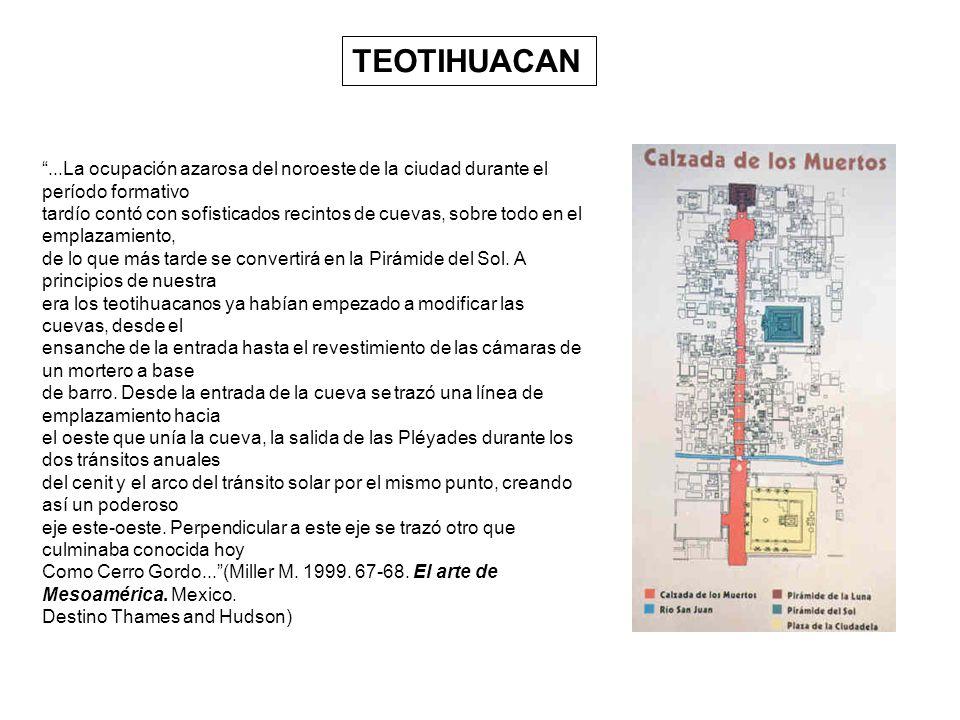 TEOTIHUACAN...La ocupación azarosa del noroeste de la ciudad durante el período formativo tardío contó con sofisticados recintos de cuevas, sobre todo