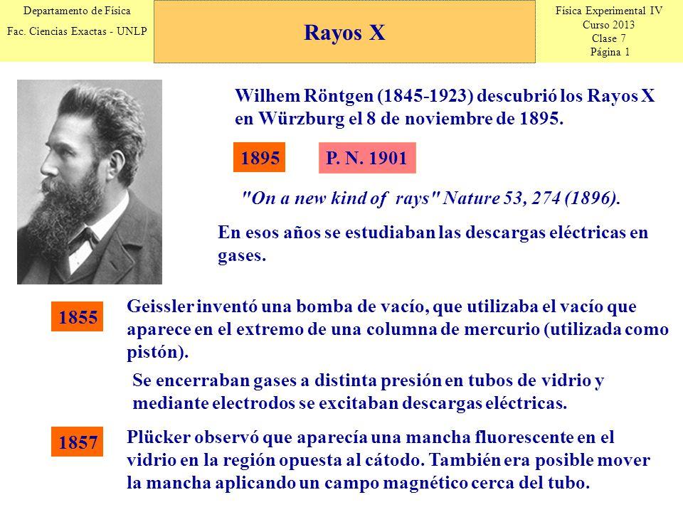 Física Experimental IV Curso 2013 Clase 7 Página 1 Departamento de Física Fac.
