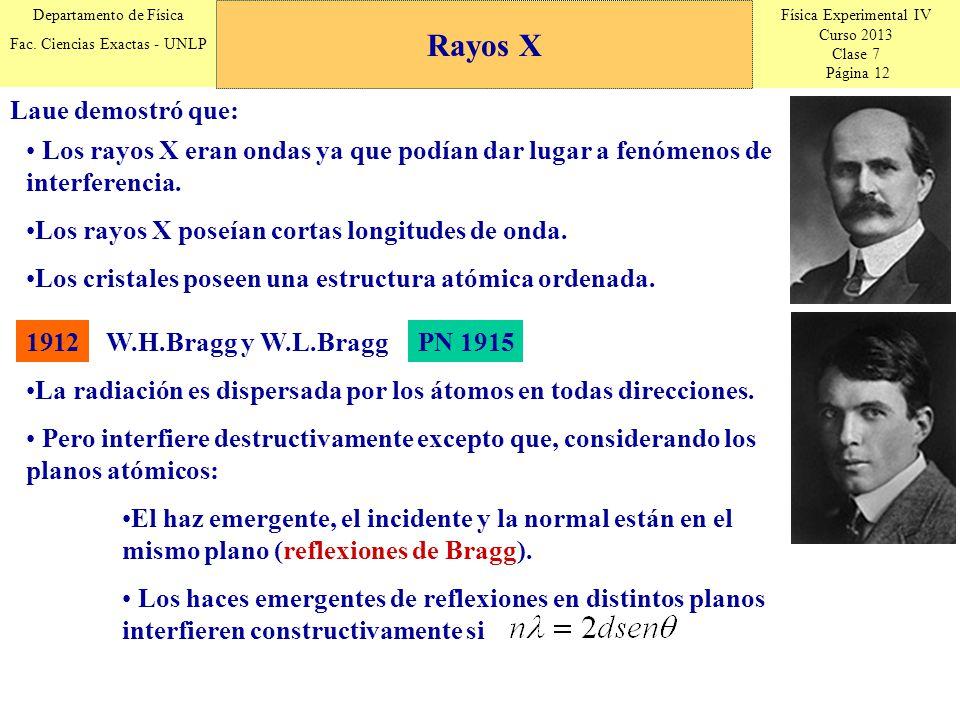 Física Experimental IV Curso 2013 Clase 7 Página 12 Departamento de Física Fac.