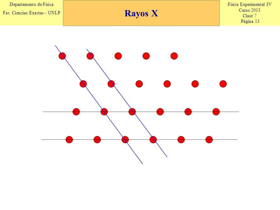 Física Experimental IV Curso 2013 Clase 7 Página 13 Departamento de Física Fac.