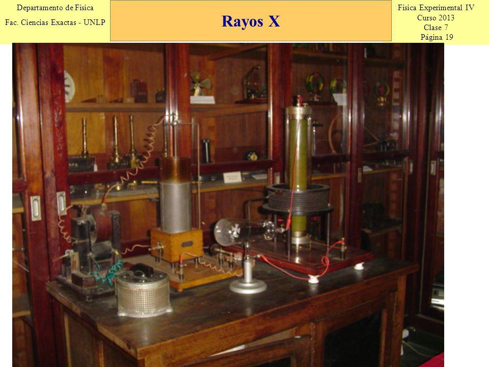 Física Experimental IV Curso 2013 Clase 7 Página 19 Departamento de Física Fac.