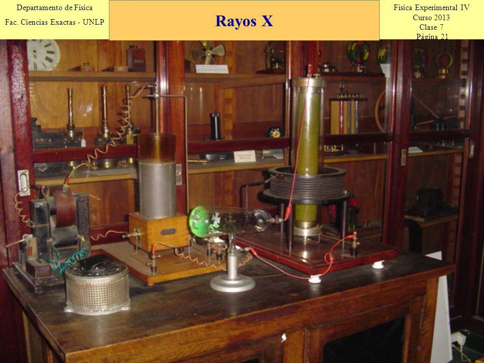 Física Experimental IV Curso 2013 Clase 7 Página 21 Departamento de Física Fac.