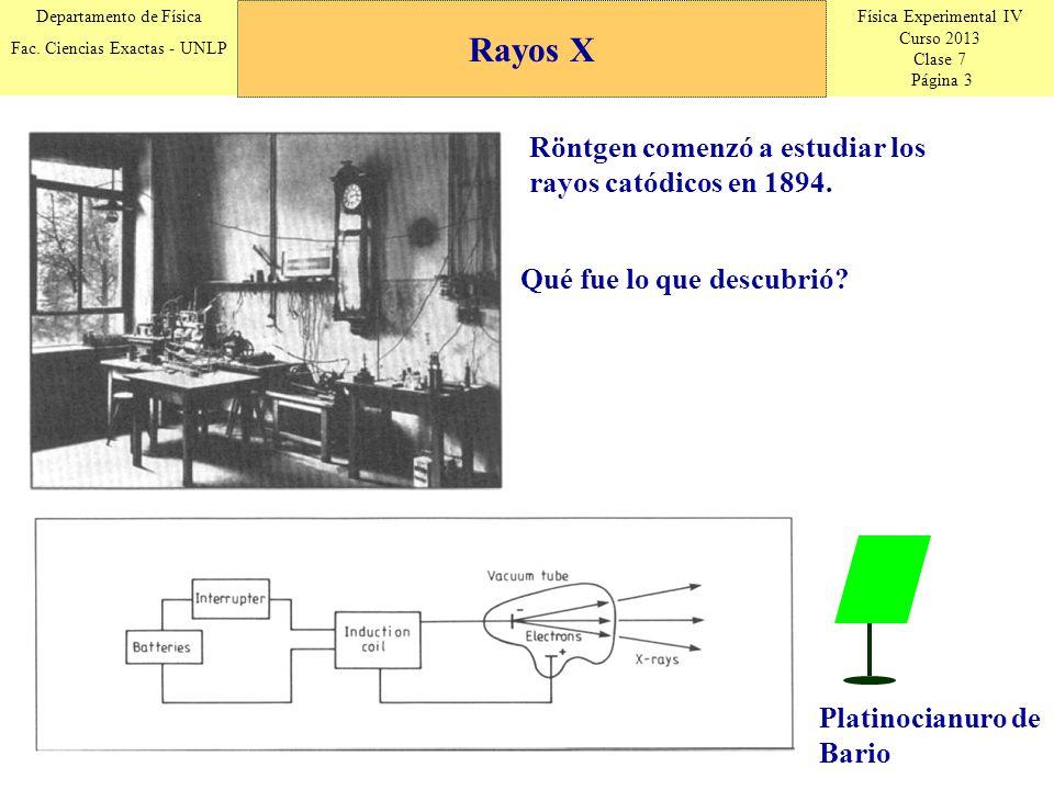 Física Experimental IV Curso 2013 Clase 7 Página 14 Departamento de Física Fac.