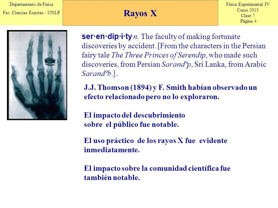 Física Experimental IV Curso 2013 Clase 7 Página 15 Departamento de Física Fac.