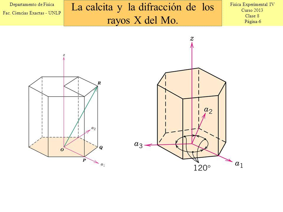 Física Experimental IV Curso 2013 Clase 8 Página-6 Departamento de Física Fac. Ciencias Exactas - UNLP La calcita y la difracción de los rayos X del M