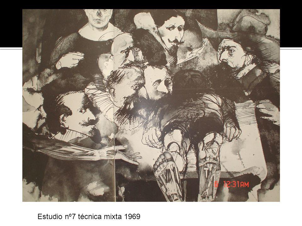 Estudio nº7 técnica mixta 1969