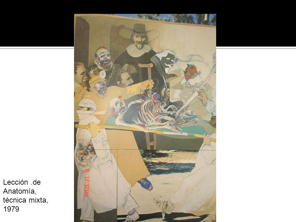 Lección.de Anatomía, técnica mixta, 1979 Lección de Anatomía, Técnica mixta 1969