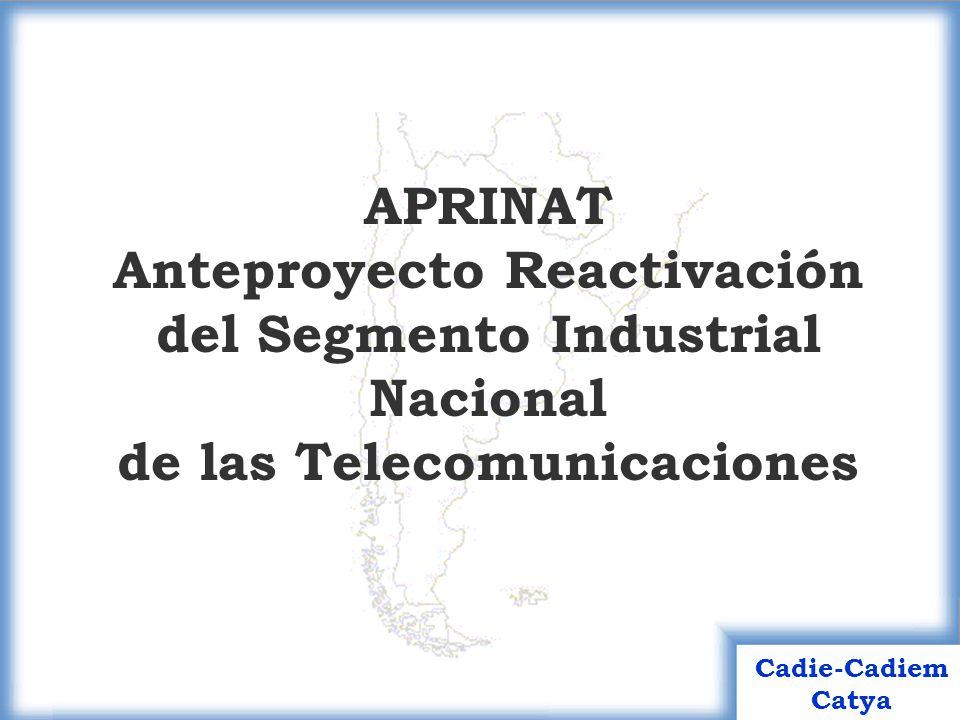 21 Cadie-Cadiem Catya Junio 2004 Fase 1 (18 meses) Backbone principal Backbones secundarios por zonas, con foco en parte de las provincias de Buenos Aires, Santa Fe y Córdoba Sistemas de Interconexión de nodos regionales.