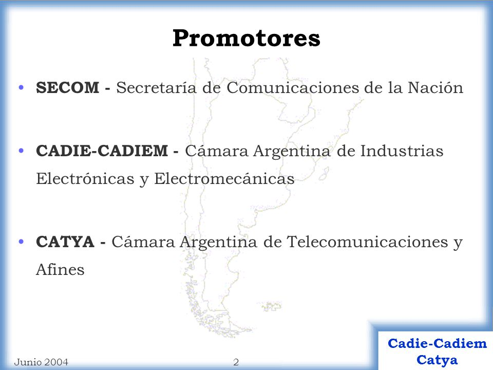 Cadie-Cadiem Catya APRINAT Anteproyecto Reactivación del Segmento Industrial Nacional de las Telecomunicaciones