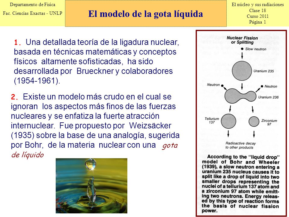 El núcleo y sus radiaciones Clase 18 Curso 2011 Página 1 Departamento de Física Fac. Ciencias Exactas - UNLP 1. Una detallada teoría de la ligadura nu