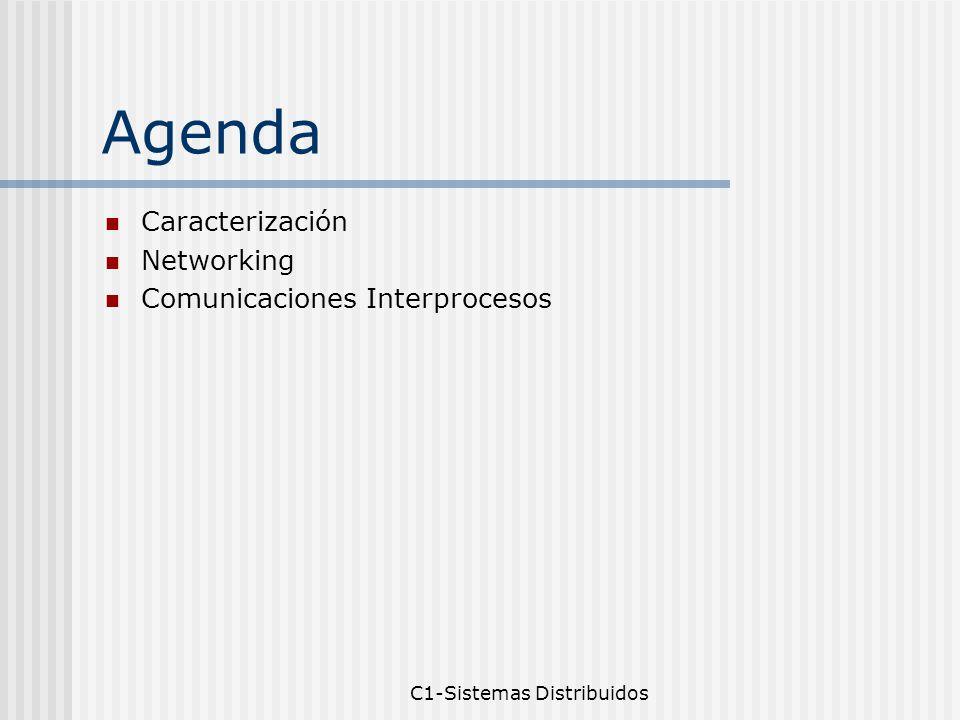 C1-Sistemas Distribuidos Agenda Caracterización Networking Comunicaciones Interprocesos
