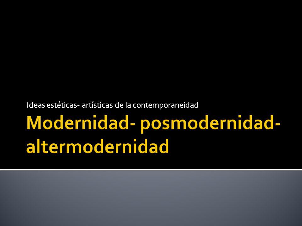 La modernidad pone en crisis el paradigma artístico canónico y revisa el estatuto de obra, autor, espectador Benjamín interpela su contemporaneidad proponiendo una mirada crítica y superadora en la relación artes- tecnologías, demostrando la pérdida de auraticidad de las artes por su reproductibilidad y señalando el cambio de percepción difusa y producción ( memoria técnica)