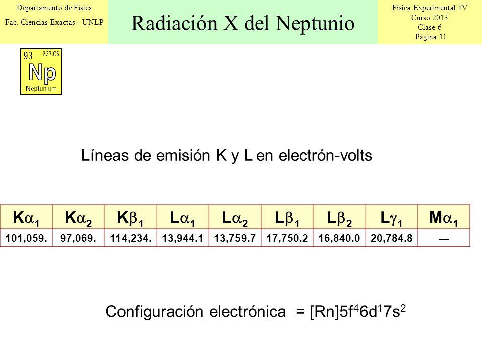 Física Experimental IV Curso 2013 Clase 6 Página 11 Departamento de Física Fac.