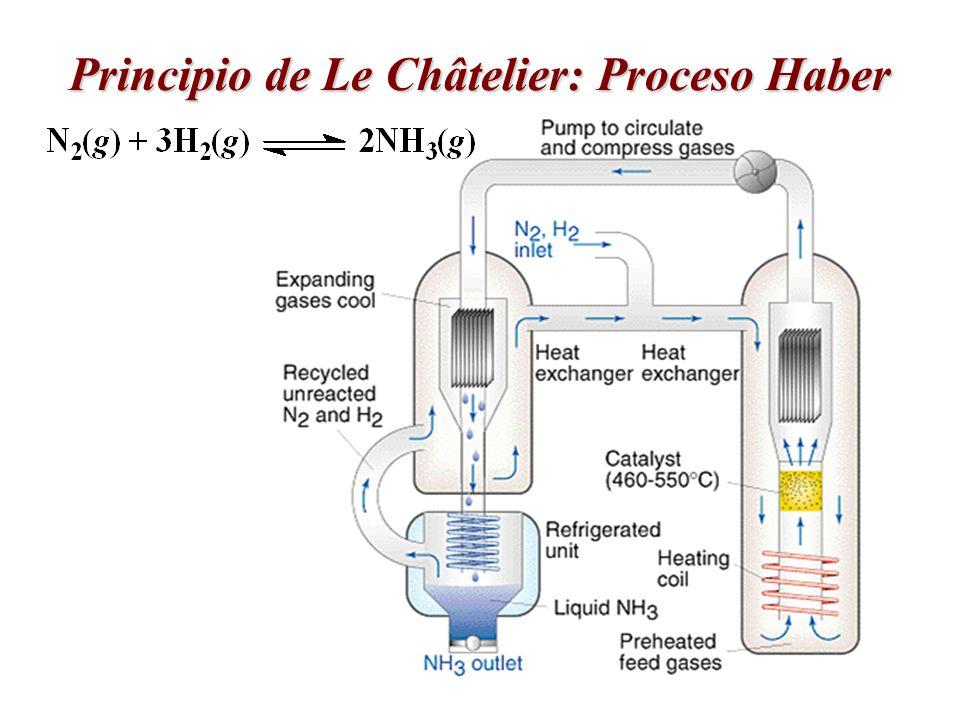 Principio de Le Châtelier: Proceso Haber