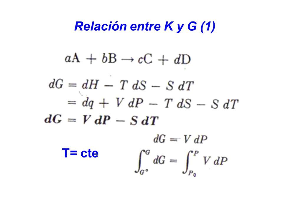 T= cte Relación entre K y G (1)