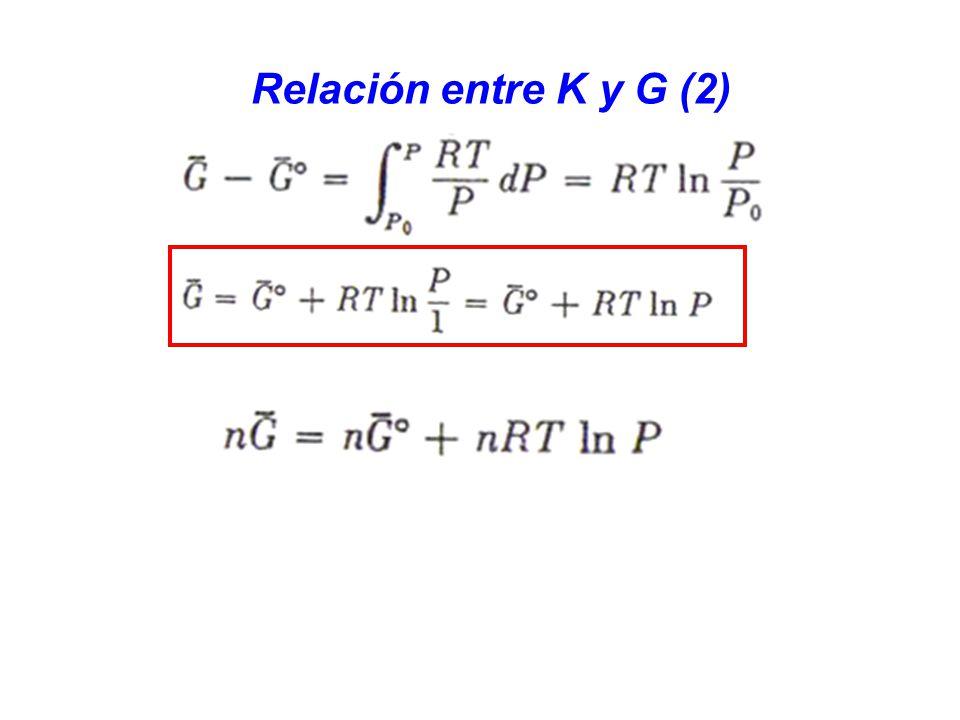 Relación entre K y G (2)