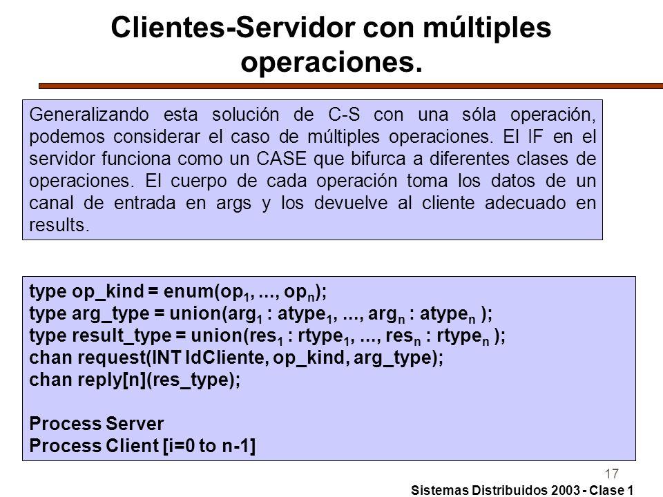 17 Clientes-Servidor con múltiples operaciones.