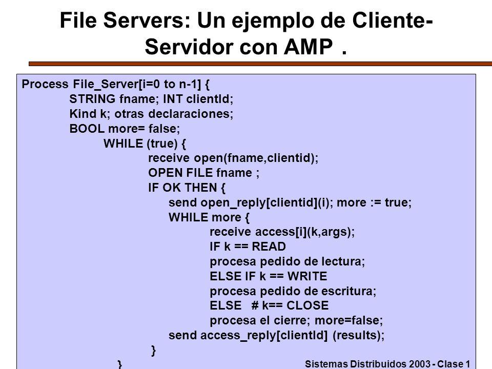 28 File Servers: Un ejemplo de Cliente- Servidor con AMP.