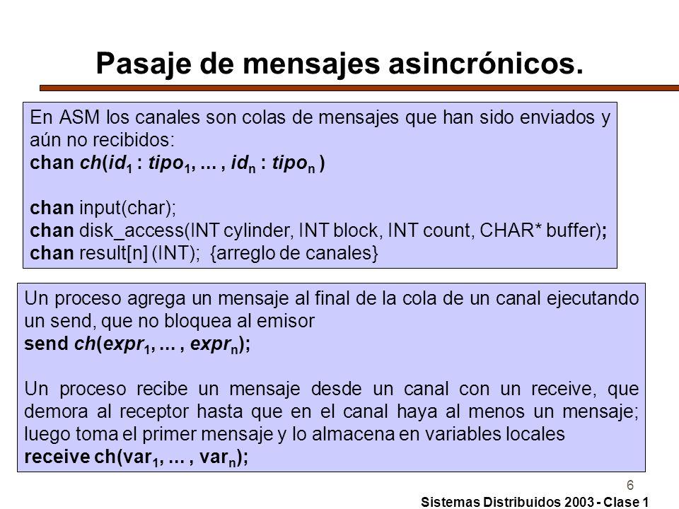 6 Pasaje de mensajes asincrónicos.