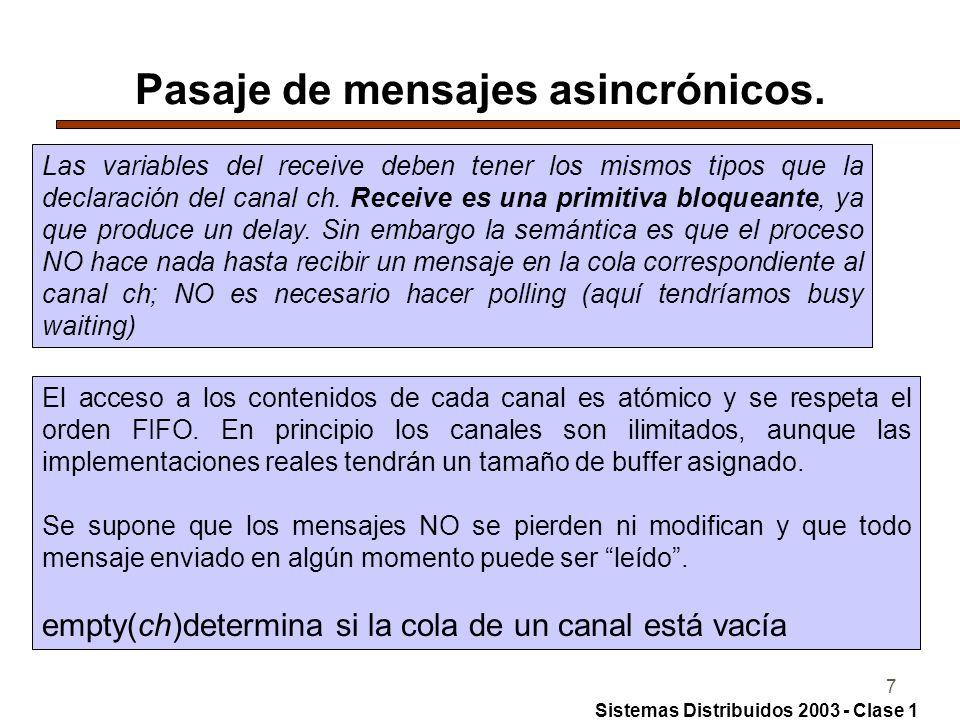 7 Pasaje de mensajes asincrónicos.