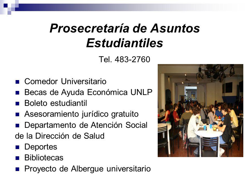Prosecretaría de Asuntos Estudiantiles Tel.