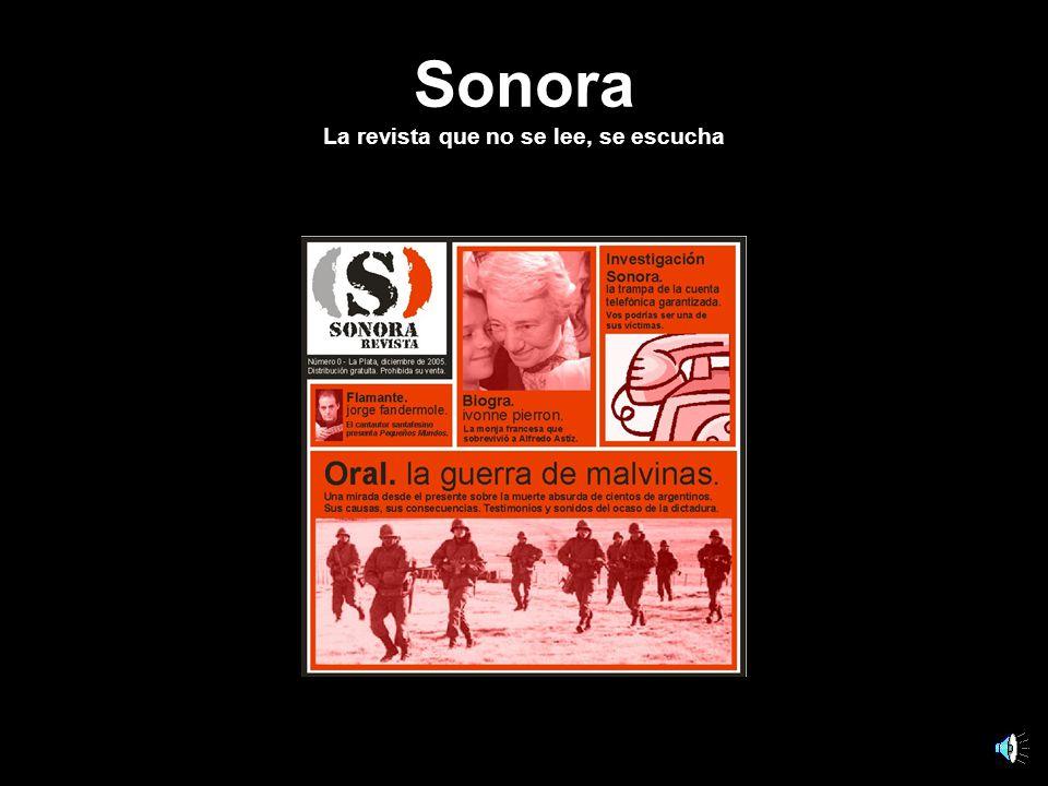 Sonora La revista que no se lee, se escucha