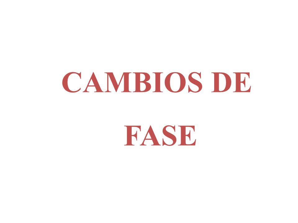 CAMBIOS DE FASE
