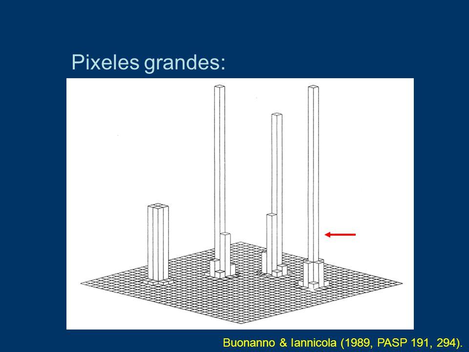 Pixeles grandes: Buonanno & Iannicola (1989, PASP 191, 294).