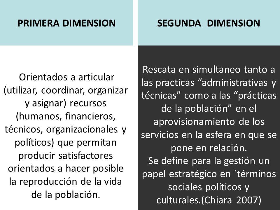 Orientados a articular (utilizar, coordinar, organizar y asignar) recursos (humanos, financieros, técnicos, organizacionales y políticos) que permitan