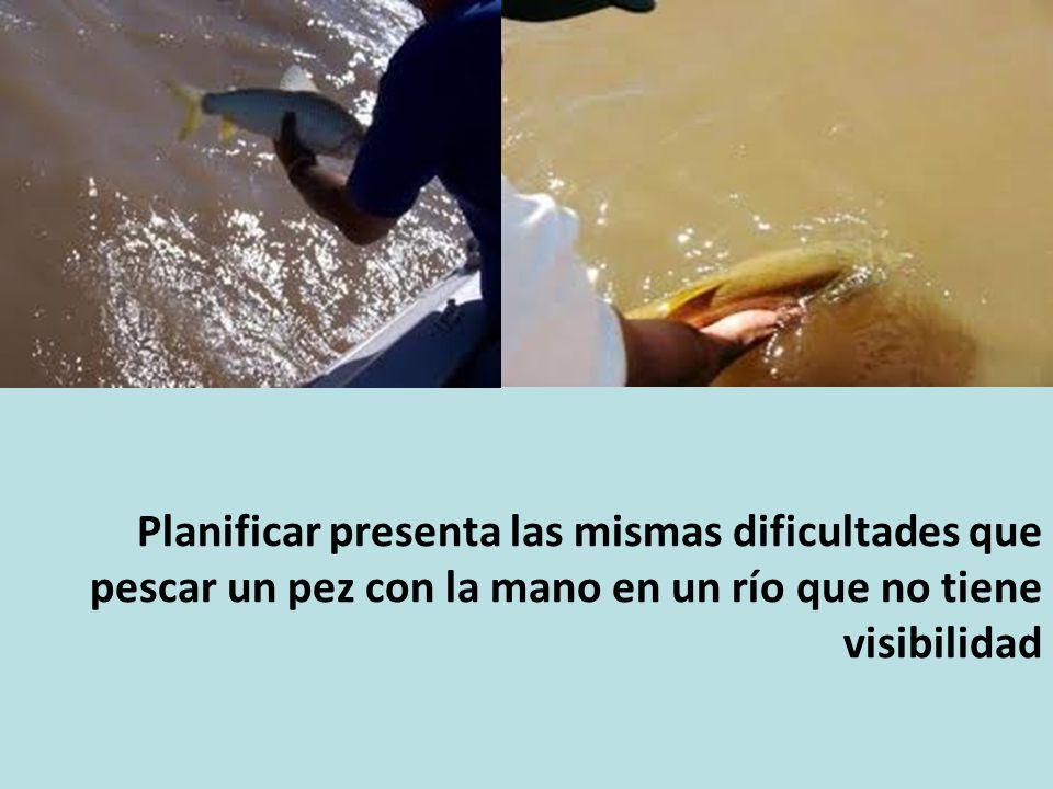 Planificar presenta las mismas dificultades que pescar un pez con la mano en un río que no tiene visibilidad