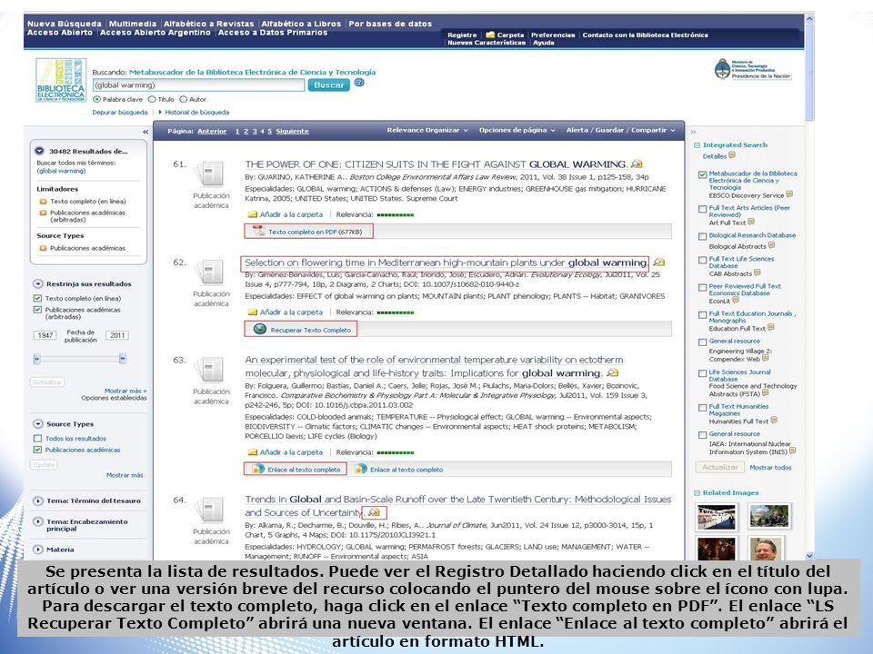 Pantalla de visualización luego de clickear en LS Recuperar Texto completo.