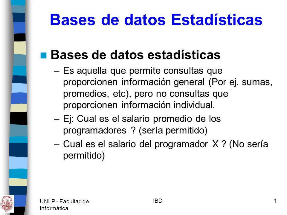 UNLP - Facultad de Informática IBD2 Nuevas Aplicaciones en BD Hasta ahora Modelos de datos con: –Uniformidad de datos (estructura y tamaño) –Orientación de Registros (long.