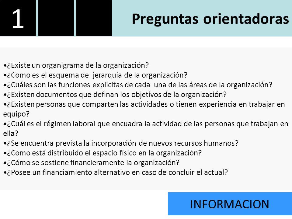 ¿Existe un organigrama de la organización. ¿Como es el esquema de jerarquía de la organización.