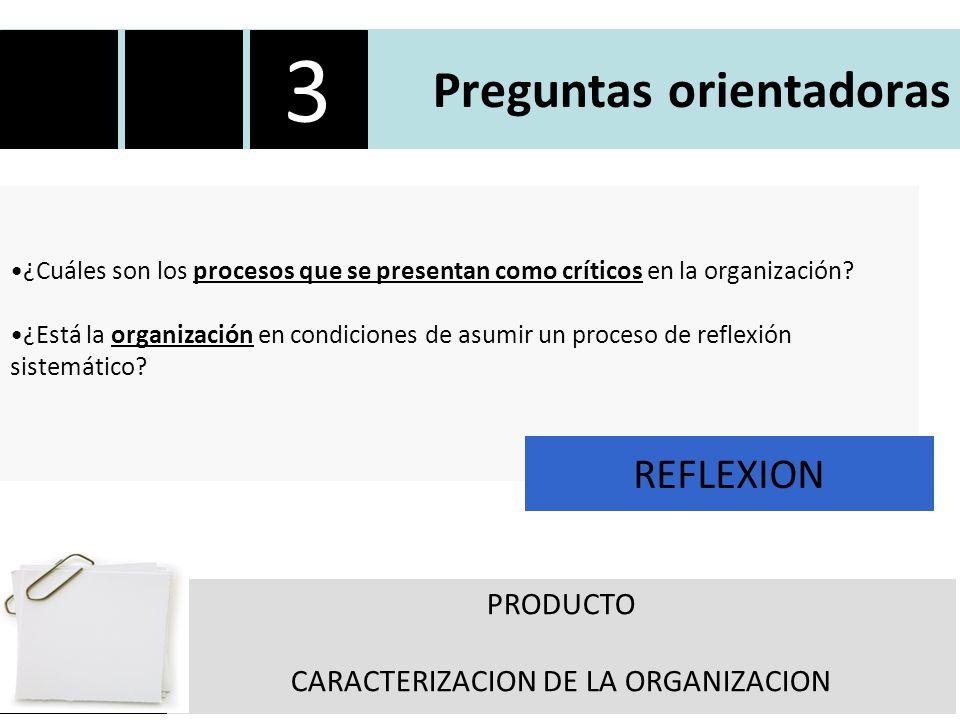 Preguntas orientadoras ¿Cuáles son los procesos que se presentan como críticos en la organización.