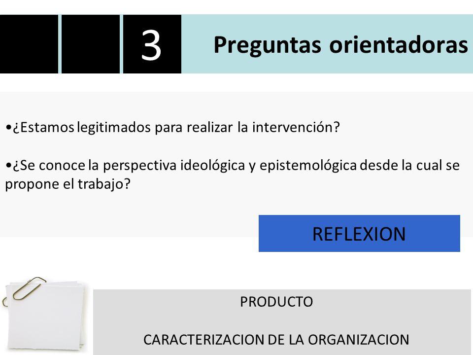 Preguntas orientadoras ¿Estamos legitimados para realizar la intervención.