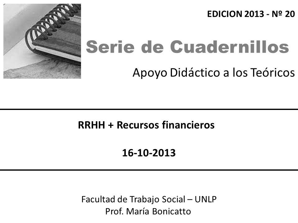 Apoyo Didáctico a los Teóricos Facultad de Trabajo Social – UNLP Prof.