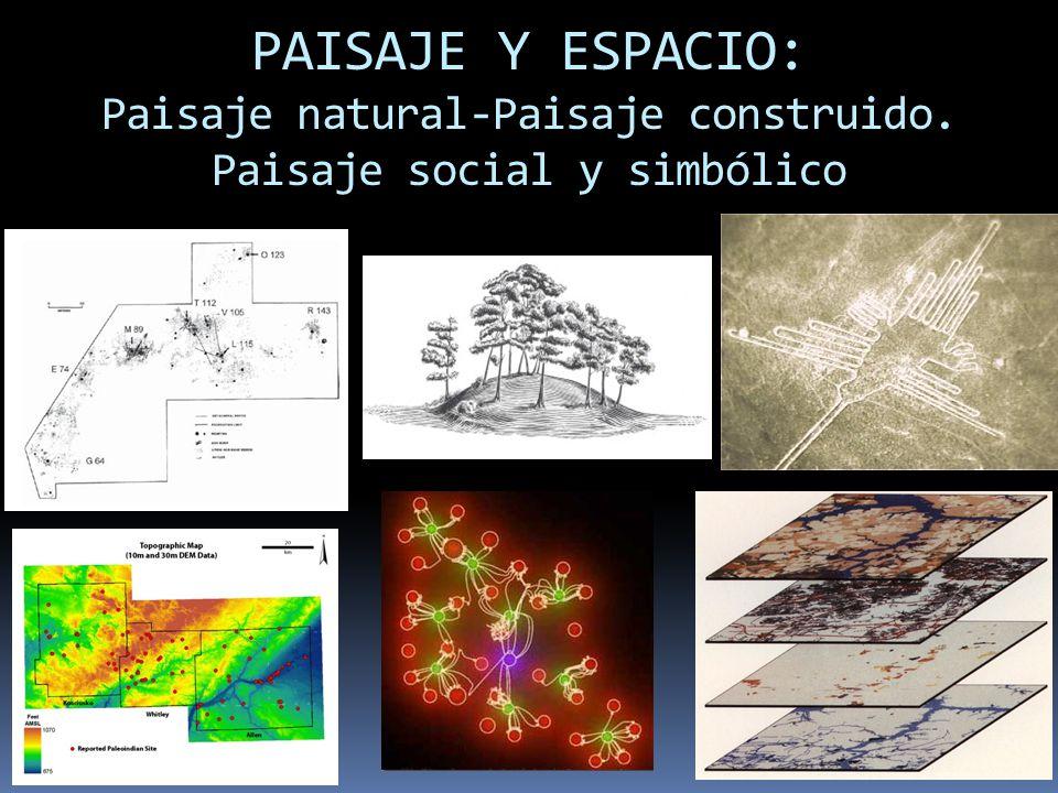 PAISAJE Y ESPACIO: Paisaje natural-Paisaje construido. Paisaje social y simbólico