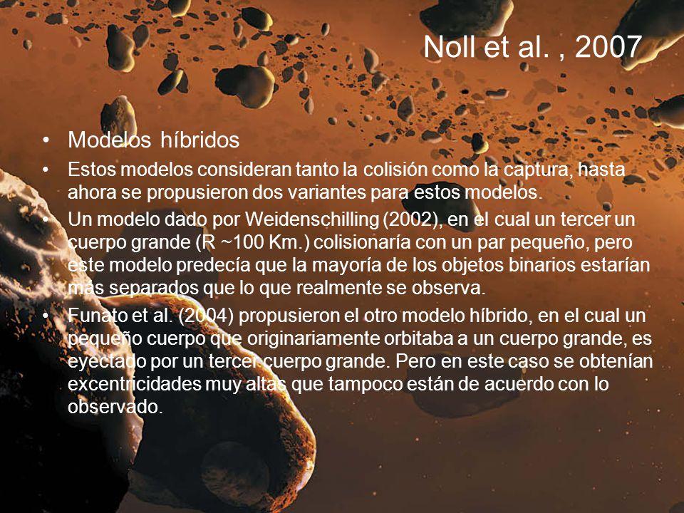 Noll et al., 2007 Modelos híbridos Estos modelos consideran tanto la colisión como la captura, hasta ahora se propusieron dos variantes para estos mod